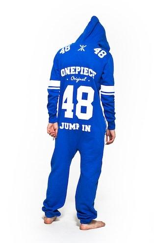 Onepiece College 48 Onesie Royal Blue