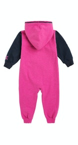 Onepiece College Baby Jumpsuit Raspberry Melange / Black