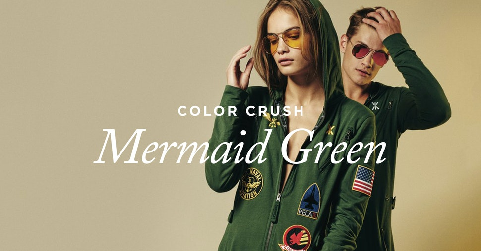 Color Crush Mermaid Green Onepiece Jumpsuit Onesies