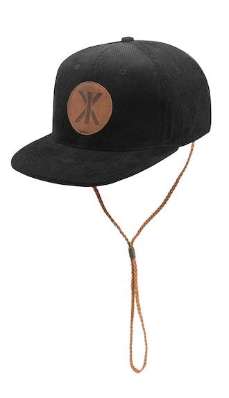 Onepiece Cord Cap Black / With String