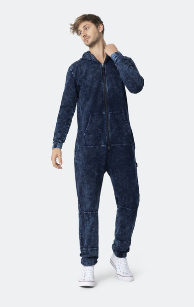 Onepiece Denim-on-Denim Jumpsuit Navy