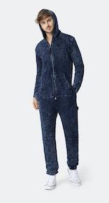 Onepiece Denim-on-Denim Jumpsuit Navy