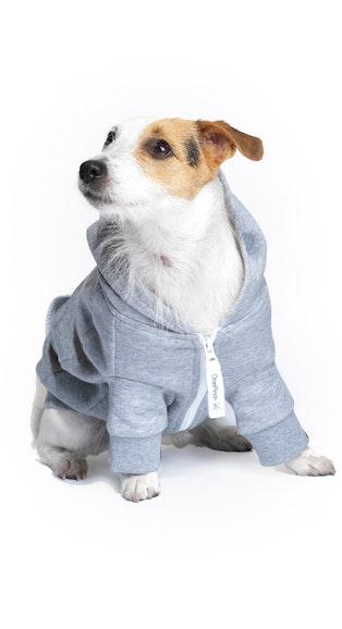 Onepiece Dog Style Onesie Grey Melange