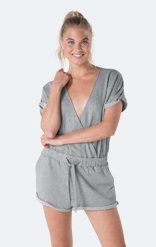 Onepiece Drowsy Short Jumpsuit Grey Mel