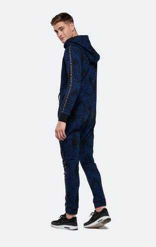Onepiece Ellipse Printed Jumpsuit Schwarz