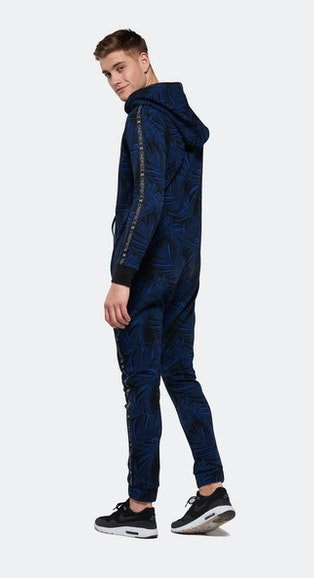 Onepiece Ellipse Printed Jumpsuit Black