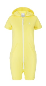Onepiece Fitted Short Jumpsuit Soft Yellow