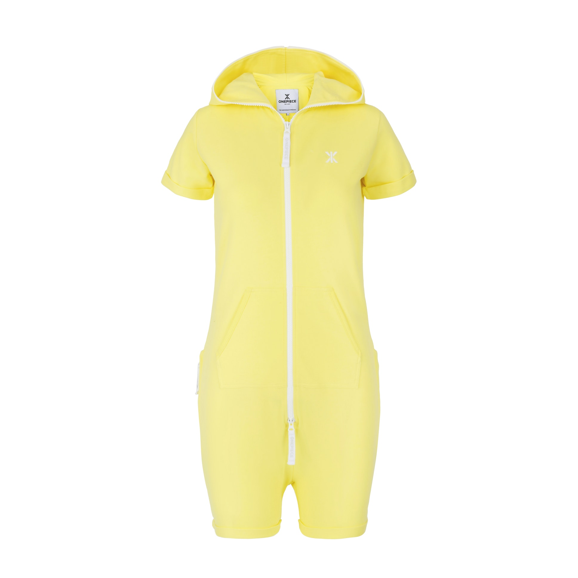fitted short jumpsuit soft yellow