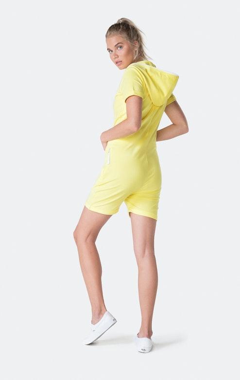 Onepiece Fitted Short Jumpsuit Jaune pâle