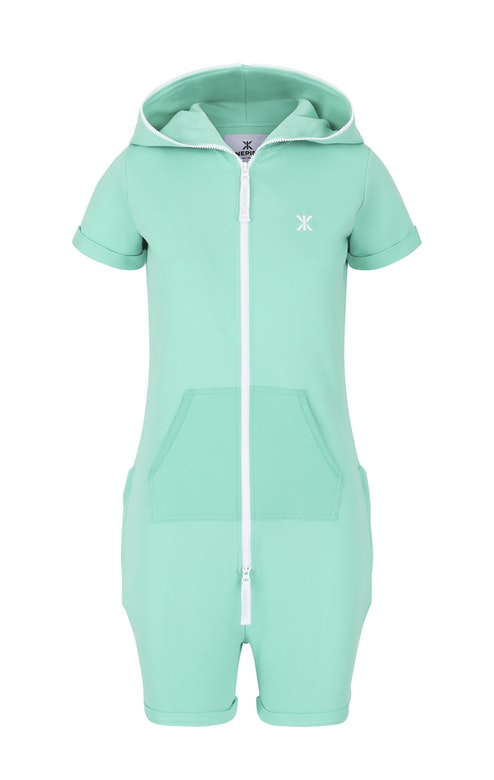 Onepiece Fitted Short Jumpsuit Turquoise