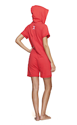 Onepiece Fitted Short Onesie Calypso Coral