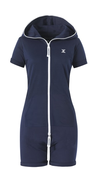 Onepiece Fitted Short Onesie Midnight Blue
