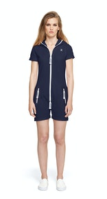 Onepiece Fitted Short Onesie Bleu Nuit