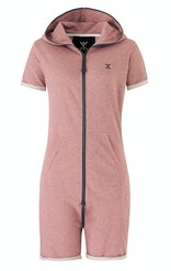 Onepiece Fitted Short Onesie Muddy Rose