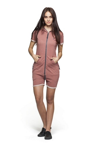 Onepiece Fitted Short Onesie Rose Muddy