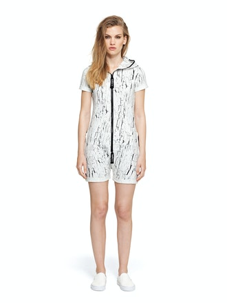 Onepiece Fitted Short Onesie Snow White Printed