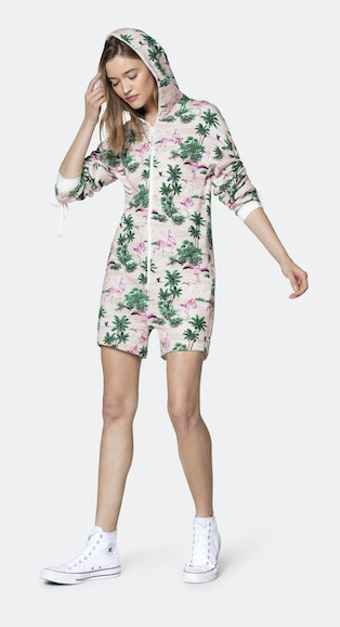 Onepiece Flamingo womens short jumpsuit Pink