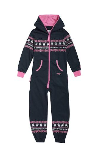 05094dbde50 Onepiece Folklore Kids Jumpsuit Midnight Blue   Pink