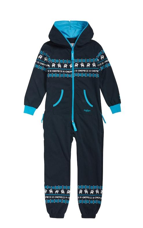 Onepiece Folklore Kids Jumpsuit Navy / Northern Blue