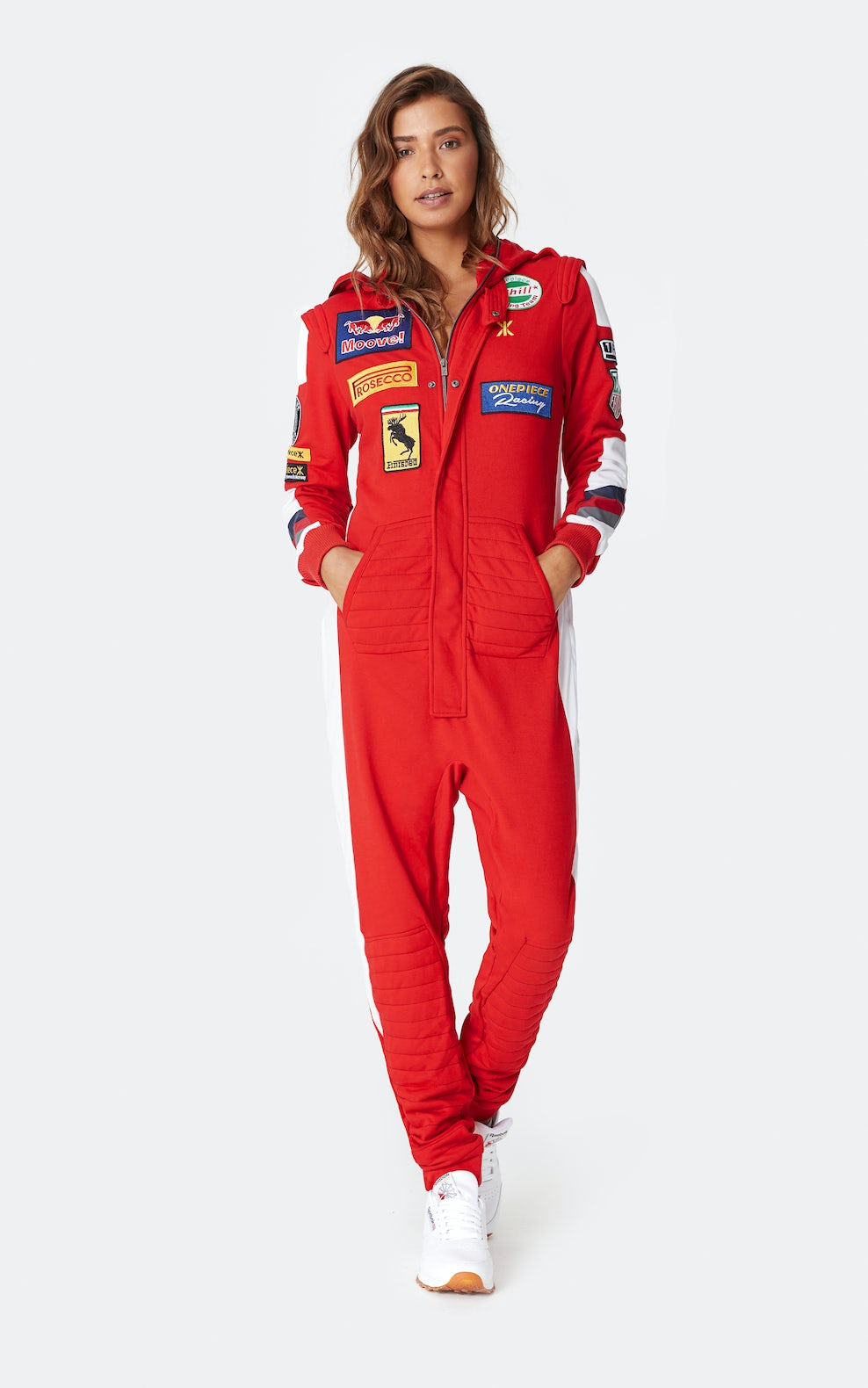 popular style 2019 best sell 60% clearance Formula Onepiece Jumpsuit Red