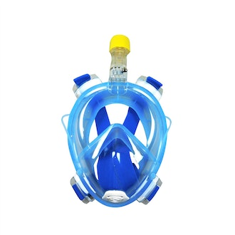 Onepiece Full Face Snorkling Mask BLUE