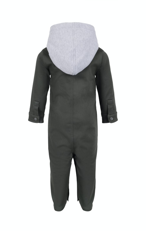 Onepiece Goals Baby Jumpsuit Army