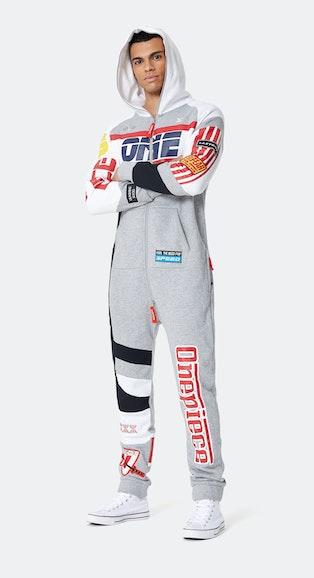 Onepiece Grand Prix Jumpsuit Mid Grey Melange