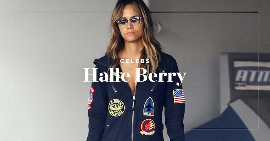 Halle Berry spotted wearing Onepiece onesie