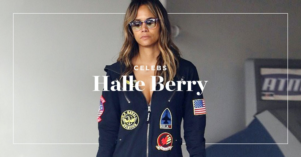 Halle Berry wears Onepiece at the airport