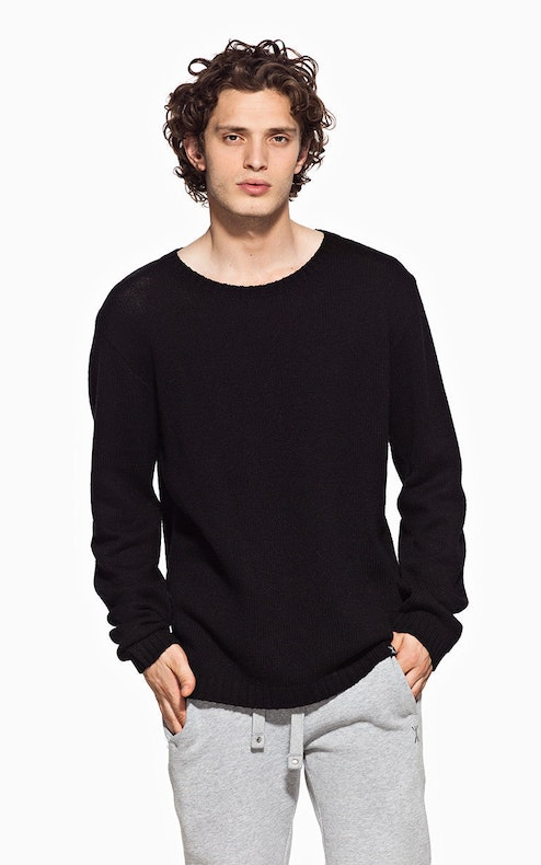 Onepiece Halling Knitted Sweater Black