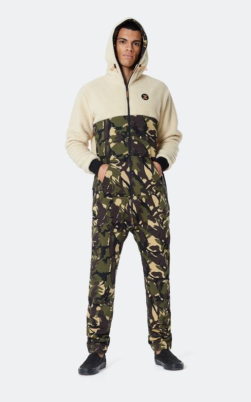 Onepiece Happy Camper Jumpsuit Camo