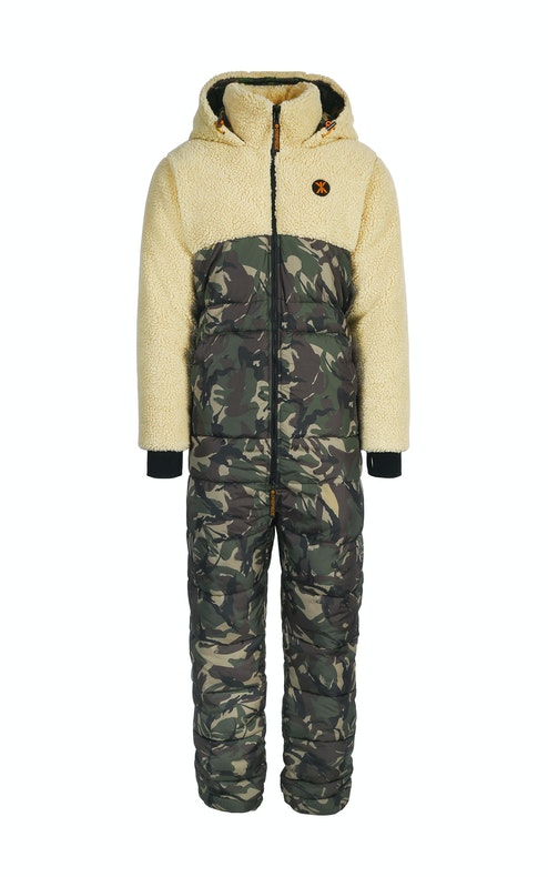 Onepiece Happy Camper Outdoor Jumpsuit Camouflage