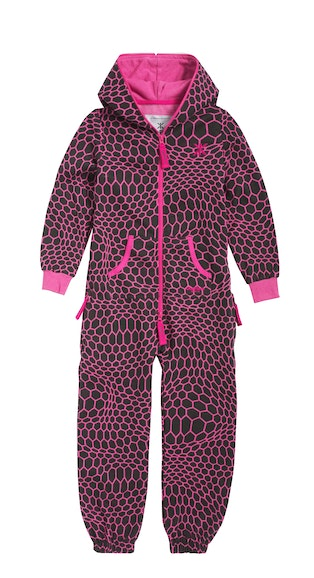 hectagon kids jumpsuit raspberry