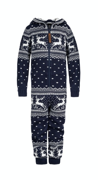 Onepiece Holidays Are Coming Kids jumpsuit Navy