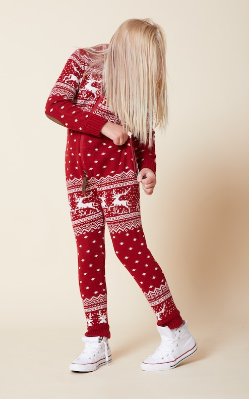 Onepiece Holidays Are Coming Kids jumpsuit Red