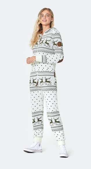 Onepiece Holidays Are Coming Onesie Off white