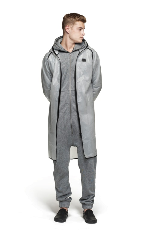 Onepiece Influence Rain Jacket Transparent frosted