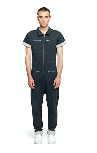 Keep Jumpsuit Black/Blue Melange