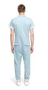 Onepiece Keep Jumpsuit Grau/Blau Meliert
