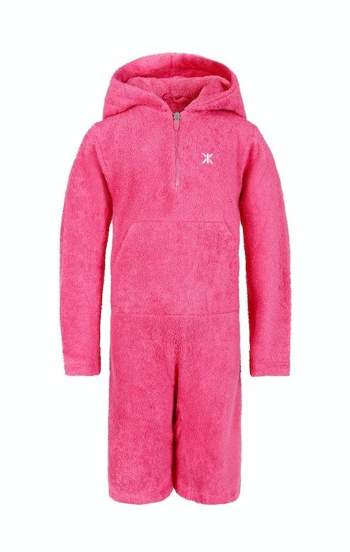 Onepiece Kids Towel Jumpsuit Hot Pink