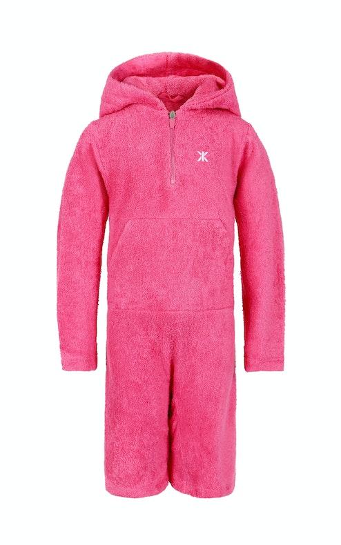 Onepiece Kids Towel Jumpsuit Pink
