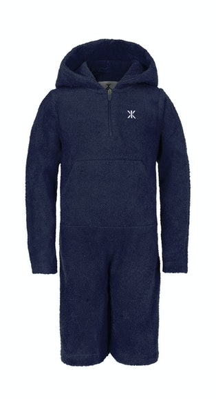 Onepiece Kids Towel Jumpsuit Navy
