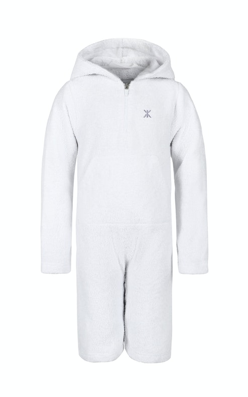 Onepiece Kids Towel Jumpsuit White