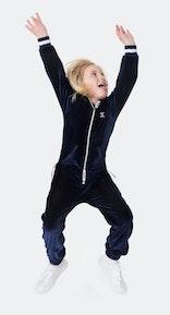 Onepiece Kids Velour Jumpsuit Blue