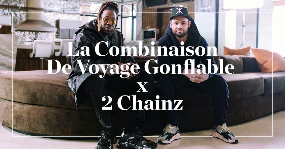 LA COMBINAISON DE VOYAGE GONFLABLE EN VEDETTE SUR 'THE MOST EXPENSIVEST' AVEC 2 CHAINZ
