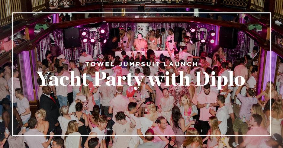 Lancement du Towel Jumpsuit avec Diplo à NY