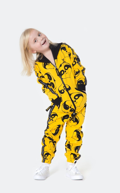 Onepiece Lazy Kids Jumpsuit Yellow