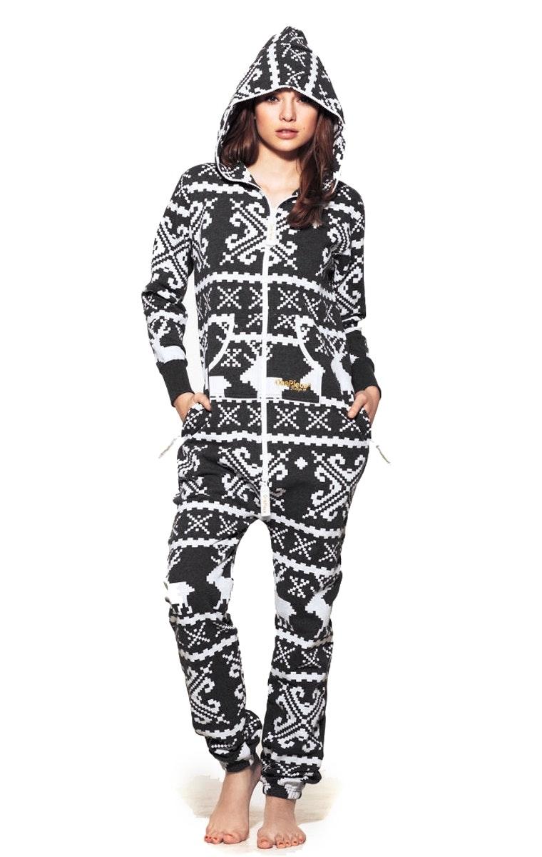 One piece adult pajamas