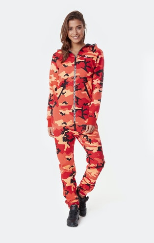 Onepiece Anti-Camo Jumpsuit Sunset Red