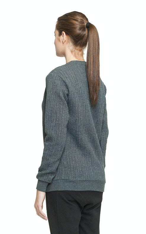 Onepiece London College Sweater Dark Grey Melange